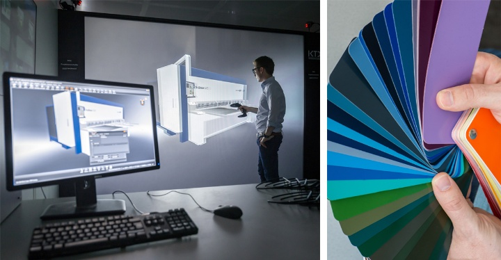 Untersuchungen in der virtuellen Realität, Farbanaylse