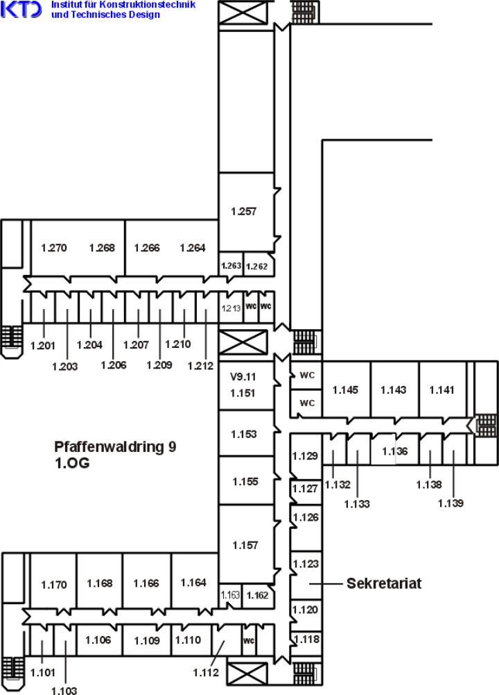 Raumplan des IKTD