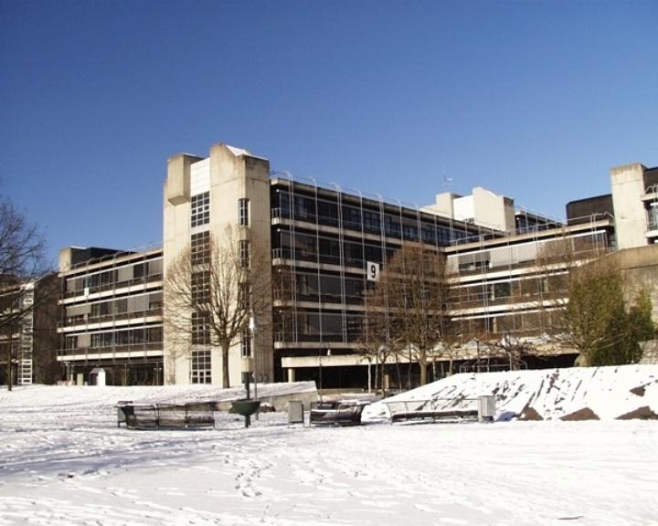 Exterior view of the institute building  (c)