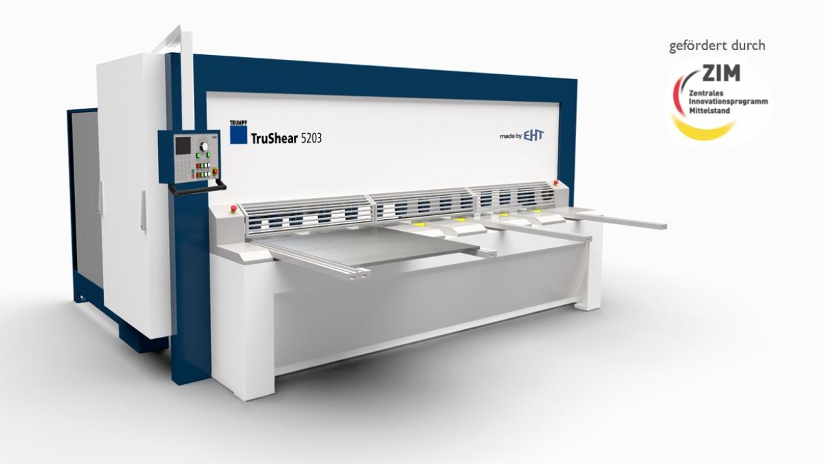 Tafelschere materialeffiziente Tragwerksgestaltung, Corporate Design für die Firma EHT Maschinensysteme GmbH Co. KG (2011 (c) IKTD