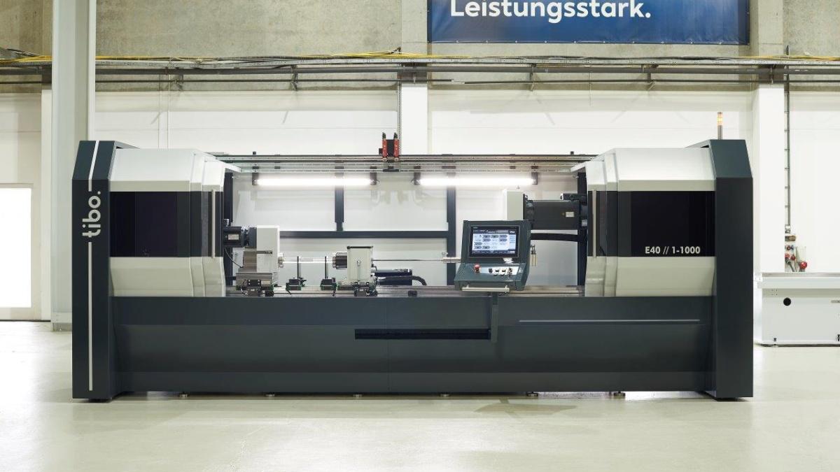 Einlippen-Tieflochbohrmaschine Corporate Design für die Firma TIBO Tiefbohrtechnik GmbH (2019)  (c) TIBO Tiefbohrtechnik GmbH